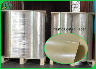 White And Brown Paper Plastic PE Coated Paper 50gsm To 350gsm Food Box Material