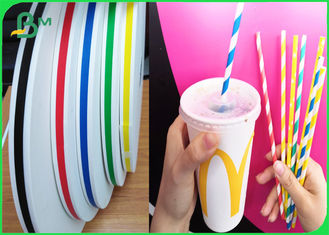 Food Grade Ink Printed Paper For Drinking Straws 60gsm Last Long Time