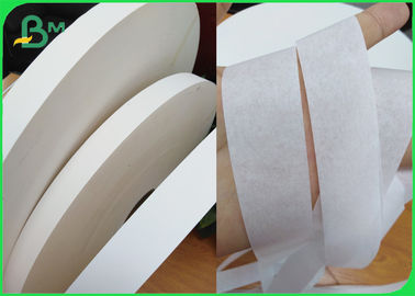 SGS Certificate 28gsm White Color Straw Wrapping Paper 26.5mm Width Bobbin