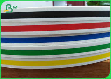 Red Blue Yellow Green Striped Drinking straws Paper Raw Material Rolls 60gsm