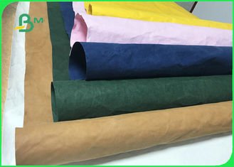 0.3mm 0.55mm 0.8mm Durable Colorful Washable Paper Fabric For Storage Bags