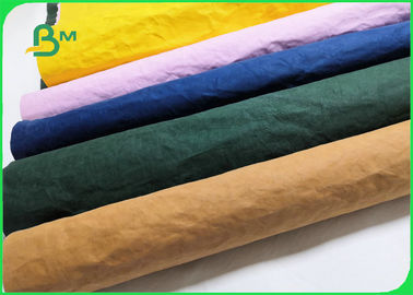 Recyclable Eco Friendly Green / Blue Soft Washed Kraft Paper For Grocery Bags