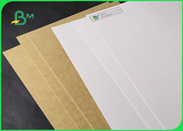 250gsm 325gsm White Clay Coated Kraft Back Paper For Food Wrapping 790 *1090mm