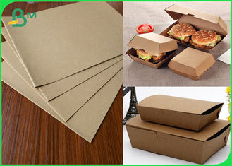 Biodegradable Takeaway Food Packaging Container Kraft Board 300gsm