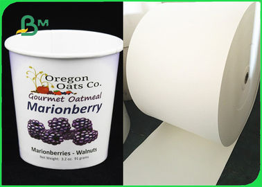 Biodegradable White PLA / PE Coated Paper For Ice Cream Cups Eco - Friendly