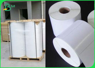 China Tear Resistant Polyethylene PE Coated Paper For Adhesive Sticker Waterproof supplier