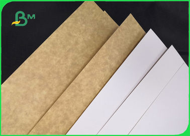 One Side Clay Coated Bleached White Top Kraft Back Liner Paper For Food Package
