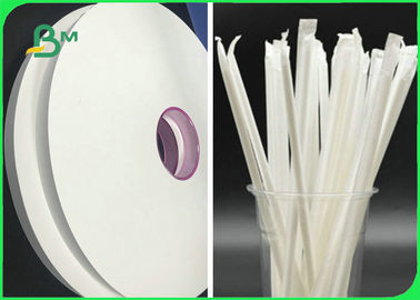27mm - 40mm 24gsm 28gsm Food Grade Straw Wrapping Paper For Packing Straws