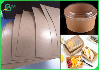Food Trays Base Paper Barrier Coatings Kraft Paper Poly Coated 250g + 18gsm