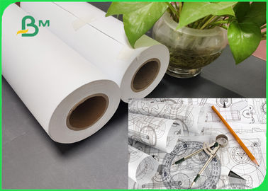 Eco - Friendly A0 A1 A2 Inkjet CAD Plotter Paper Roll For Engineering Drawing