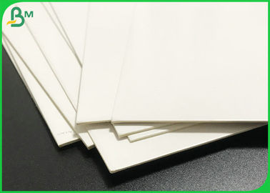 C1S One Side Glossy White Cardboard 1mm 1.5mm Duplex Board White Back Sheets