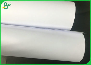 Wide Format 50g 60g 70g FSC White CAD Plotter Paper Roll For Garment Drawing