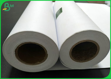 Eco - Friendly 50m 100m 150m High Whiteness CAD Plotter Paper For Inkjet Printing