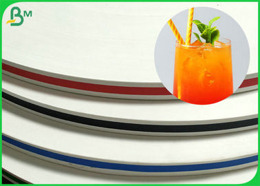 Biodegradable 15mm Stripe Straw Paper For Making Colorful Drinking Straw