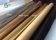 Surface Silver , Gold Rose , Gold Glitter Washable Kraft Paper Fabric For Gift