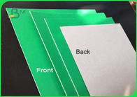 1.2mm Hard Stiffness Laminated Green / Grey Chipboard Straw Board For Packing Boxes