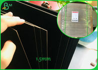 800GSM 1.2mm Both Side Coated Black Color Paper Board For Making High-end Gift Box