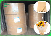 China Pure Color Waterproof And Anti - Oil Brown Kraft Liner Paper For DIY Flowers Packing company