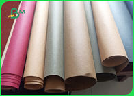 Natural Fiber Pulp Beautiful Appearance 0.3mm Washable Kraft Paper In Roll