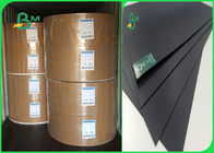 350gr 400gr Wood / Recycle Pulp Stable No Fading Black Cardboard For High - Grade Box