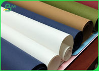 Wearproof Washable Kraft Fabric Paper 0.55mm / 0.8mm Thickness Harmless Material