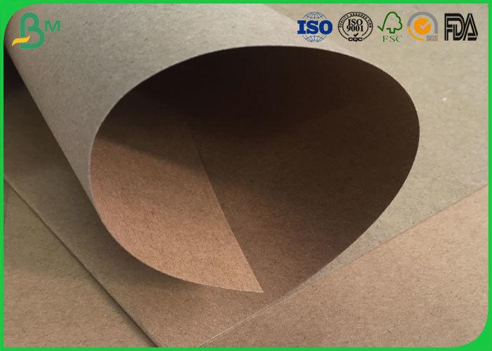 Water Resistant / Waterproof Brown Kraft Paper Roll 200gsm 250gsm