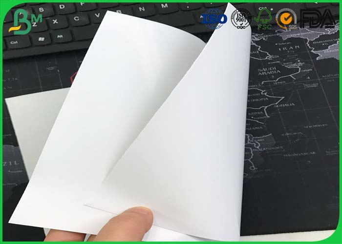 80gsm - 100gsm One Side Coated Paper , Food Grade C1S Art Paper For