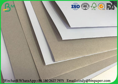 China 100 x 70 cm 170gsm 180gsm 230 grs / M2  white side coated duplex board grey back suitable for inject print factory