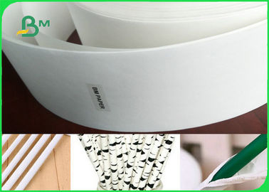 China Uncoated Food Grade Paper Roll / 24 - 35GSM Drinking Straw Wrapping Paper In White Color factory