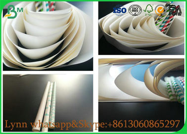 China Glossy Food Grade Paper Roll , 41GSM TO 120GSM OF Straw Pipe Wrapping Paper For Making Straw factory