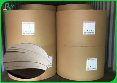 China Eco - Friendly 40gsm 50gsm Brown Food Grade Paper Roll / Food Wrapping Paper For Pakages factory