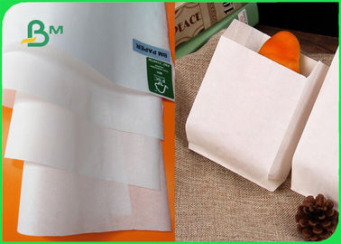 China FDA Biodegradable Food Grade Paper Roll / 50gsm 60gsm White Brown Paper Roll factory